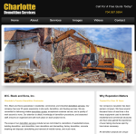 Screen Shot of CharlotteDemolitionServices.com